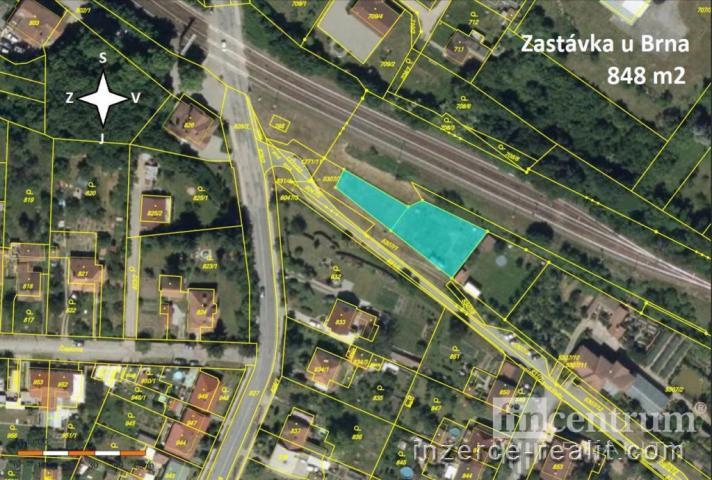 Prodej zahrady 848 m2, Rosice