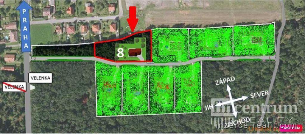 Prodej stavebního pozemku 4693 m2, Hradištko