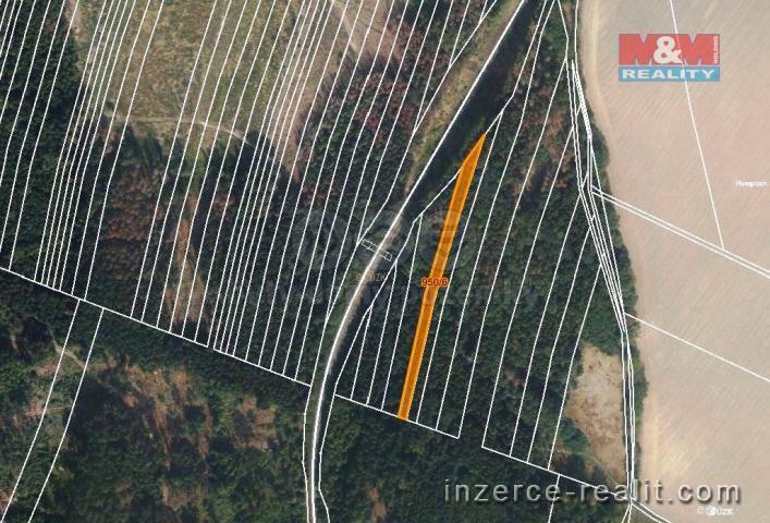 Prodej, les, 5346 m2, Nová Hradečná