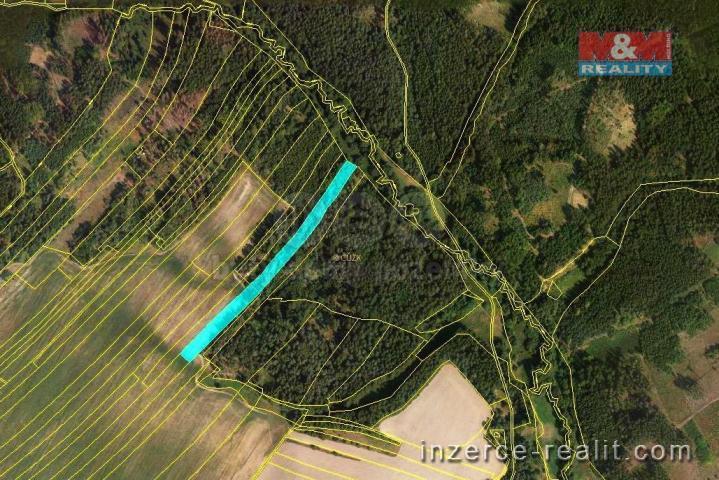 Prodej, orná půda + les, 1811 m2, Velká Bíteš
