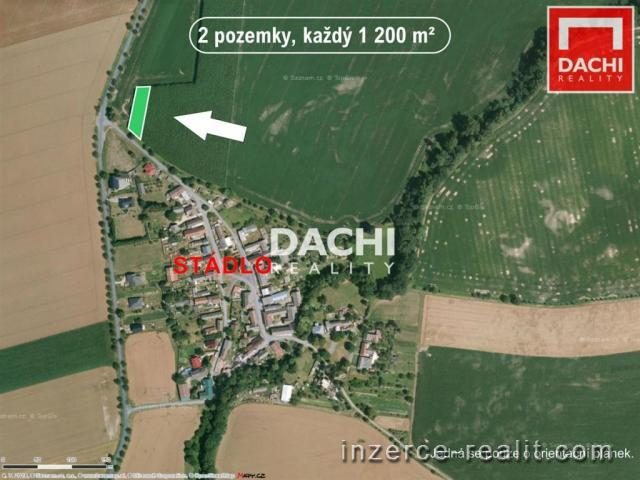 Prodej 2 stavebních pozemků cca 1200m, Olomouc - Štěpánov (Stádlo)