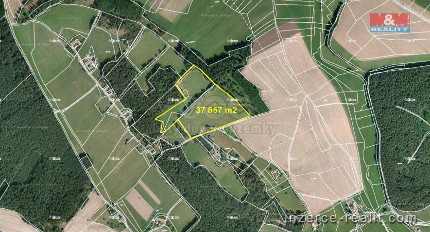 Prodej, louka, 37.282 m2, Vinná, Křemže