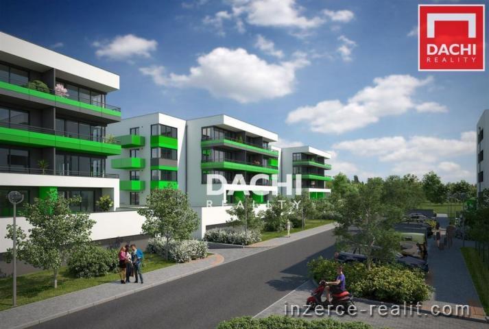 Prodej bytu 2+kk 70 m, s balkonem 8,4 m, zahradou 30  m, Olomouc, ul. Slavonínská