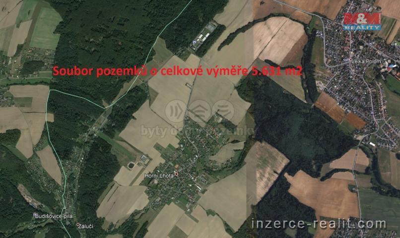 Prodej, pole, 5631 m2, Horní Lhota u Ostravy