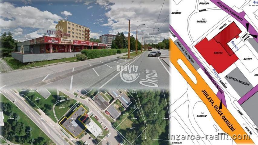 Nabízíme k pronájmu obchodní prostor s výlohami u nejfrekventovanější komunikace v Jihlavě