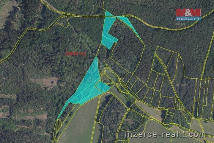 Prodej, les, 23849 m2, Pastuchovice, okr. Plzeň-sever