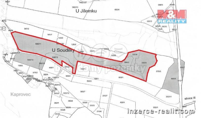 Prodej, pole, 116563 m2, Vysočina - Možděnice