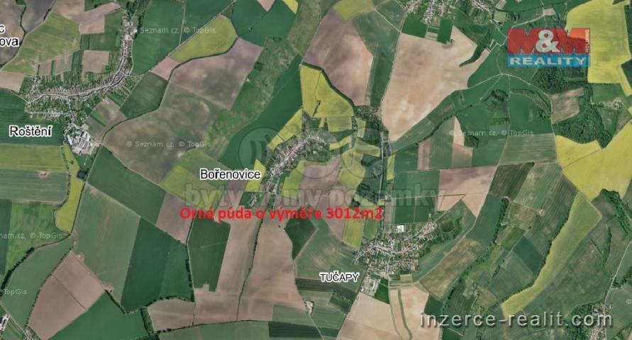 Prodej, pole, 3012 m², Bořenovice