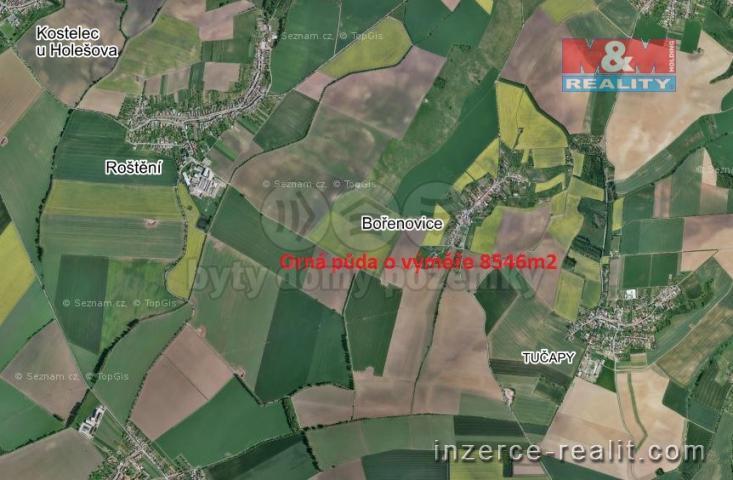 Prodej, pole, 8546 m², Bořenovice