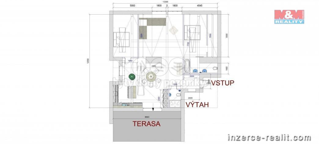 Prodej, půdní prostor, 165 m2, Plzeň, ul. Dobrovského