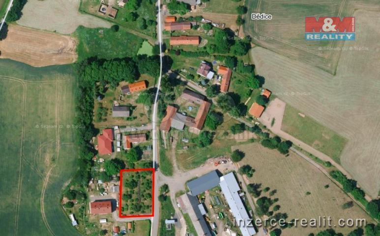 Prodej, pozemek, 1350 m², Nemyšl
