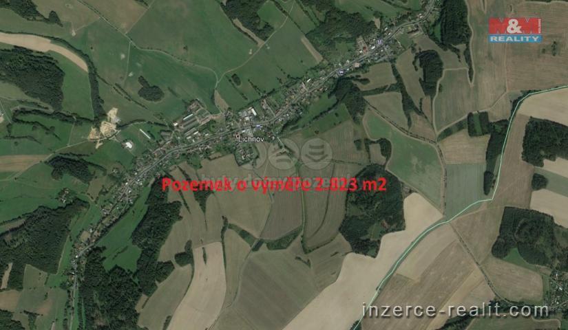 Prodej, louka, 2823 m2, Lichnov u Bruntálu