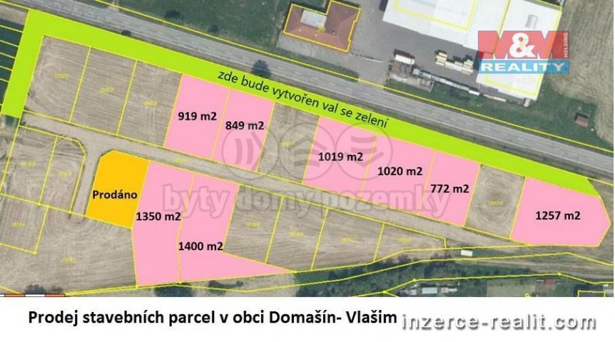 Prodej, pozemek k bydlení, 9385 m², Vlašim, ul. Benešovská
