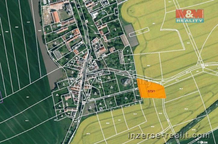 Prodej, zahrada, 2413 m², Toužetín-Donín