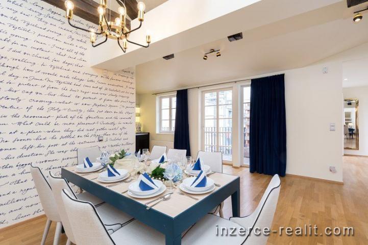 Luxusní a prostorný byt 5+kk (253 m2), pronájem, exkluzivní lokalita Praha 1 - Staré Město/Kampa, Ví