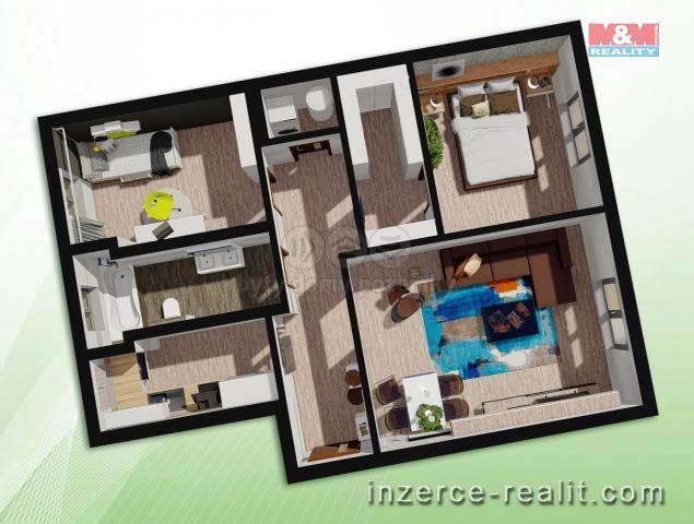 Prodej, byt 3+1, 81 m², Ostrava, ul. Křižíkova