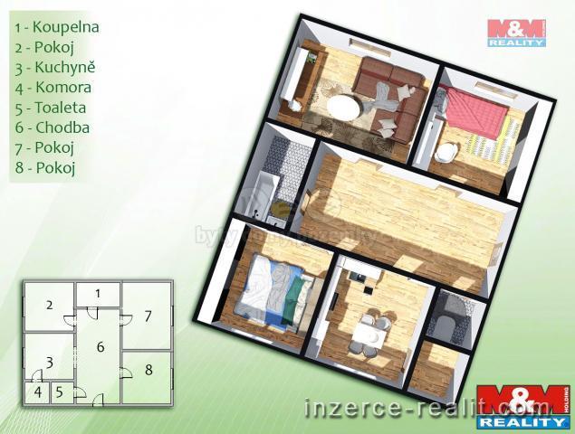 Prodej, byt 3+1, Ostrava, ul. Horní