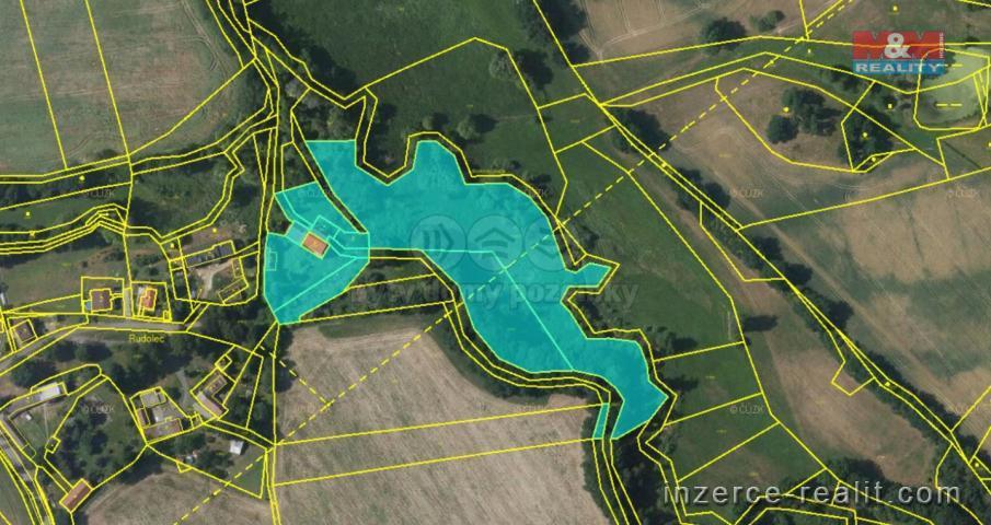 Prodej, pozemek k bydlení, 17004 m², Nedrahovice, Rudolec