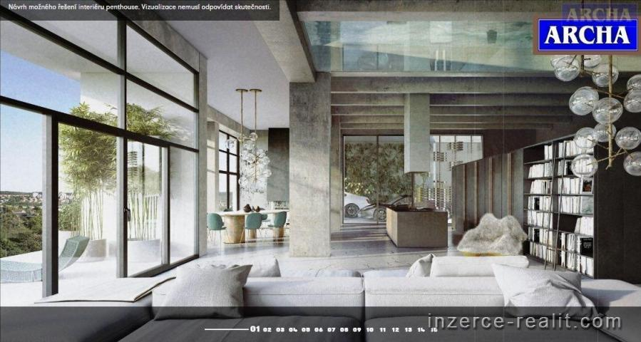 Prodej bytu Loft, plocha 56,1  m2,  3 NP,  balkon, Praha 4