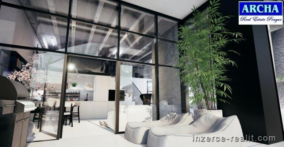 Prodej bytu Loft , plocha 49,8 m2, přízemí + předzahrádka 32,7 m2, Praha 4