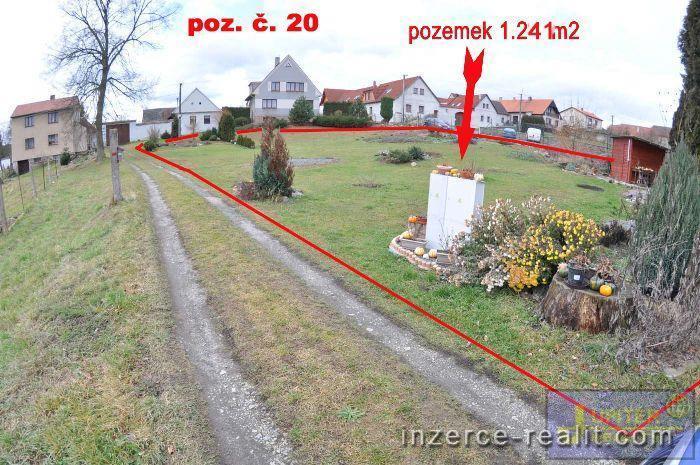 ID20 - Stavební zasíťovaný pozemek č.20,výměra  1.241m2, Sedlečko u Soběslavě, okres Tábor