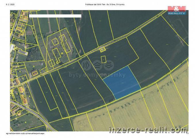 Prodej, pole, 6794 m², Vraňany, okr. Mělník