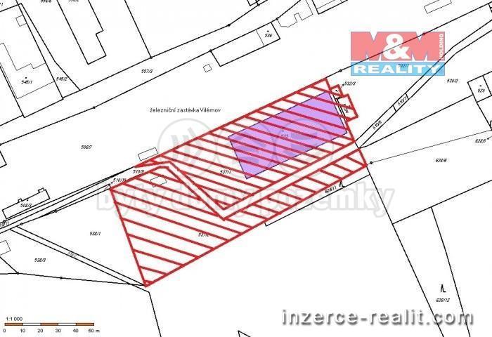 Prodej, zemědělský objekt, 7490 m2, Vilémov, ul. Nádražní