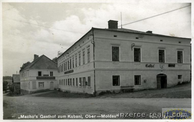 Penzion s ubytováním, restaurací a výčepem v obci Horní Vltavice, okr. Prachatice