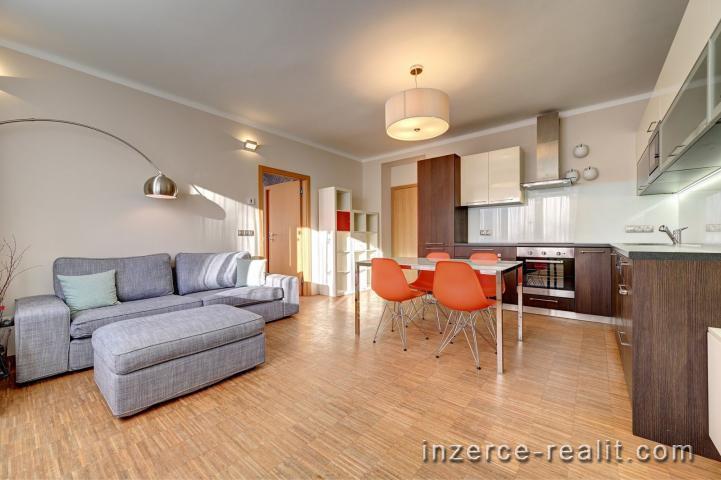 Pronájem Praha 6 - Liboc, designový byt 3+kk, 65 m2, kompletně zařízený, balkon