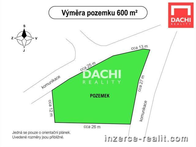 Prodej pozemku 600 m2, Šternberk, ulice Dřevařská
