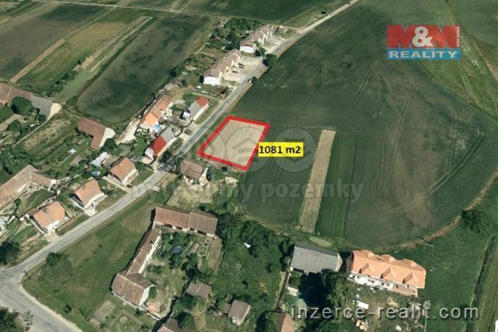 Prodej, stavební pozemek, 1081m2, Štítary na Moravě
