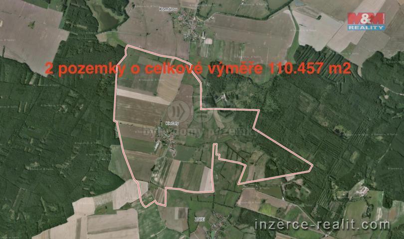 Prodej, pole, 110457 m2, Klečaty