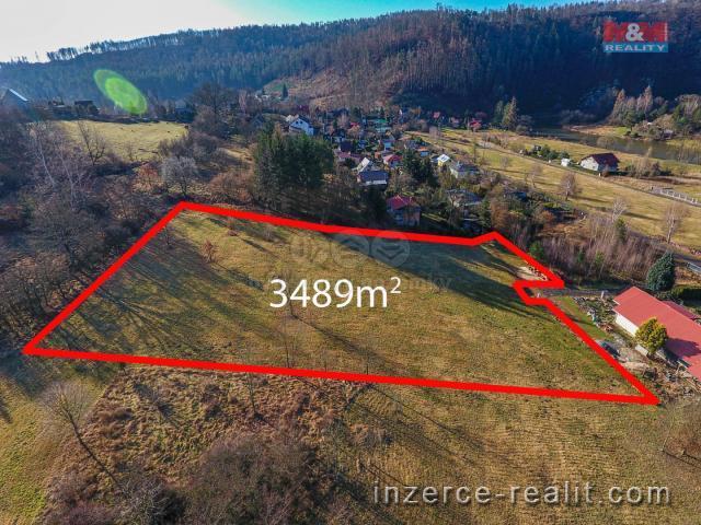 Prodej, stavební pozemek, 3489 m², Samopše