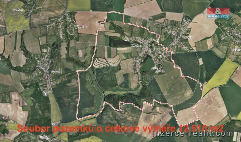 Prodej, pole, 12510 m2, Ořechov u Uherského Hradiště