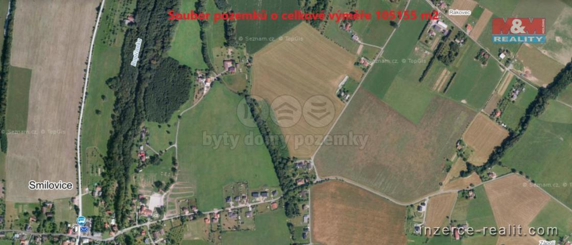 Prodej, pozemek, 105155m2, Smilovice