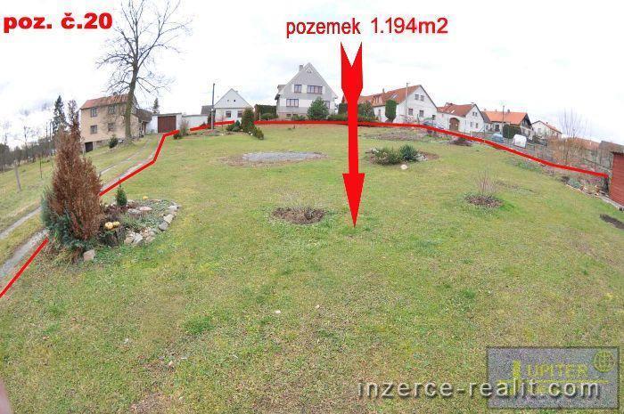 ID20 - Stavební zasíťovaný pozemek č.20,výměra  1.194m2, Sedlečko u Soběslavě, okres Tábor