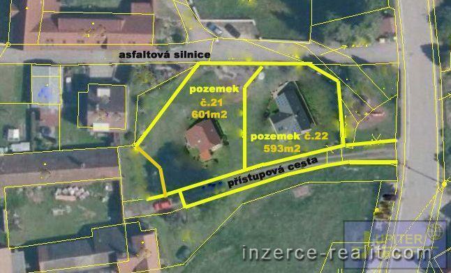 ID21 - Stavební zasíťovaný pozemek č.21,výměra  601m2, Sedlečko u Soběslavě, okres Tábor