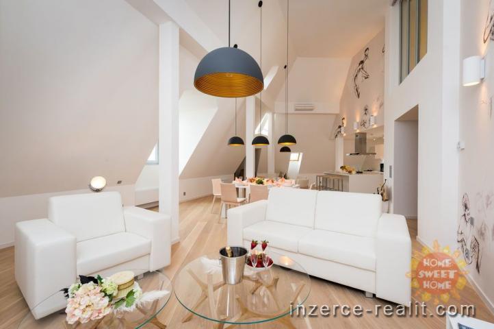 Luxusní moderně zařízený byt 5+kk k pronájmu, 173 m2, terasa, Praha 1- Nové Město, ulice Vodičkova