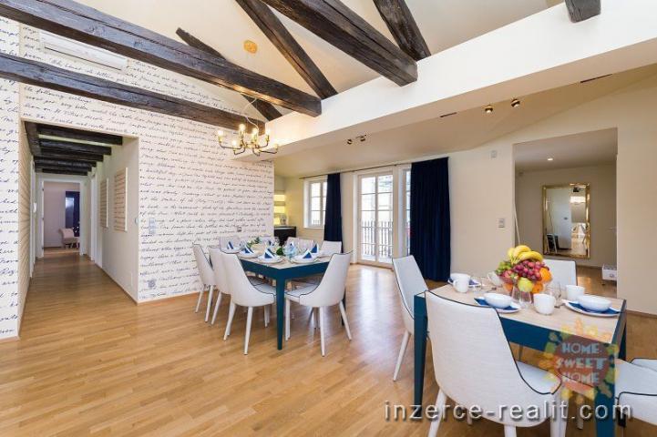 Luxusní moderně zařízený byt 5+kk k pronájmu, 253 m2, terasa, Praha 1- Nové Město, ulice Vítezná