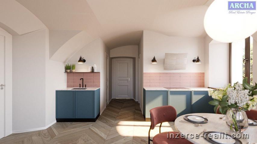 Prodej 3+kk,  98,7 m2,  4.NP,  stávající stav,  Praha 5 Hlubočepy