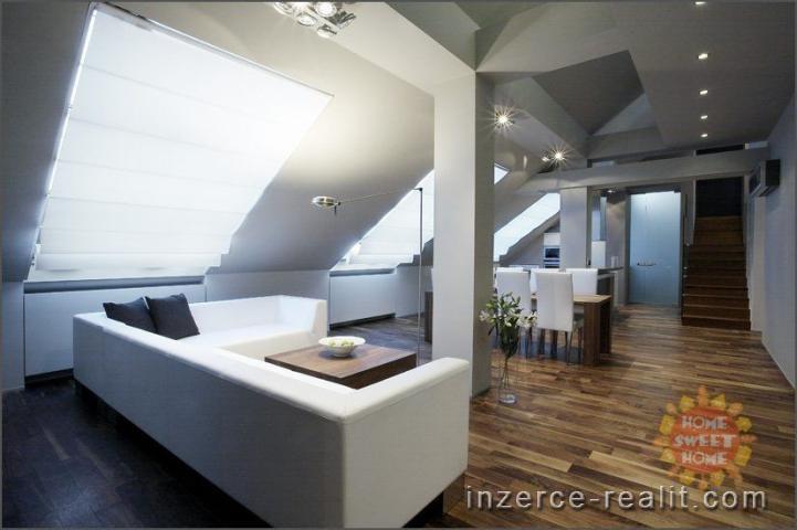 Luxusní moderně zařízený byt 5+kk k pronájmu, 235 m2, sauna, Praha 1- Nové Město, ulice Ve Smečkách